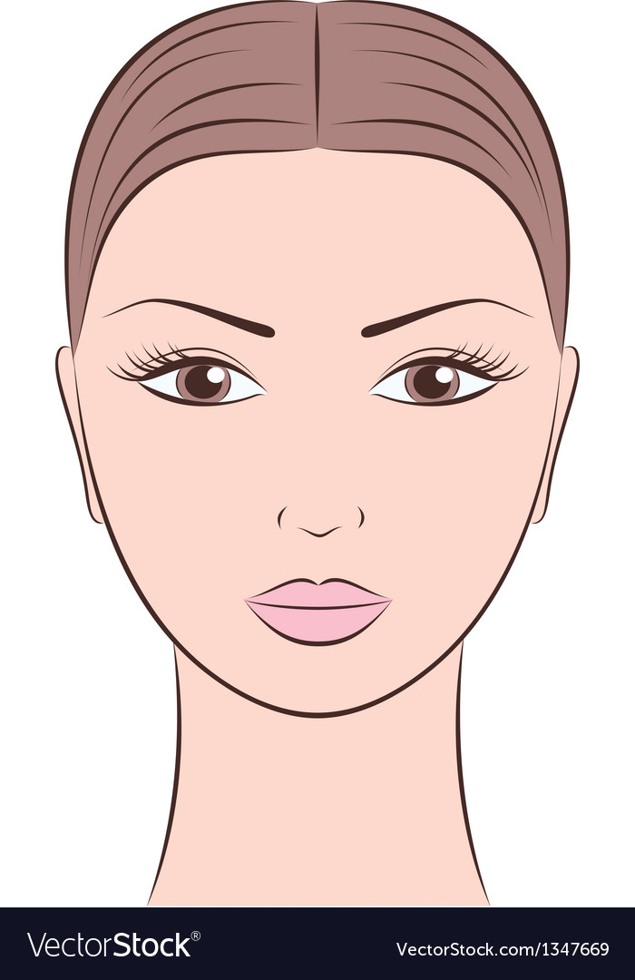 Woman s face vector | Price: 1 Credit (USD $1)