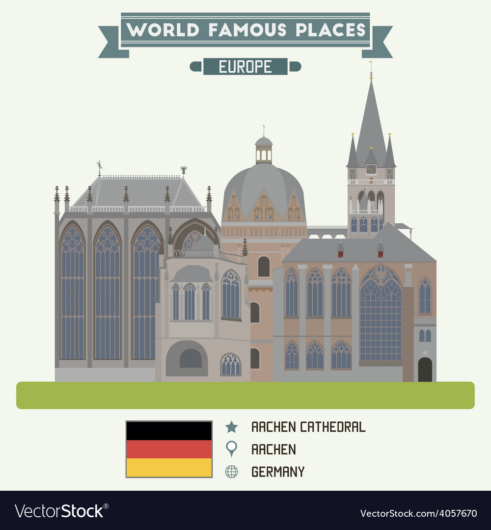 Aachen cathedral vector