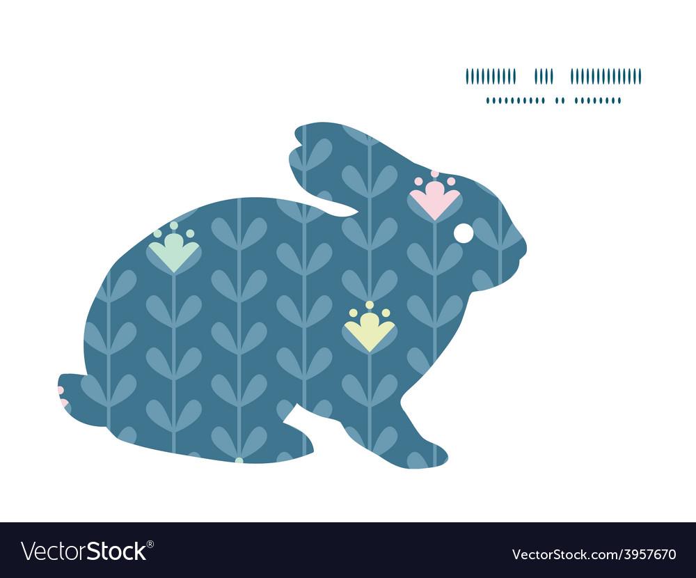 Blloming vines stripes bunny rabbit vector | Price: 1 Credit (USD $1)