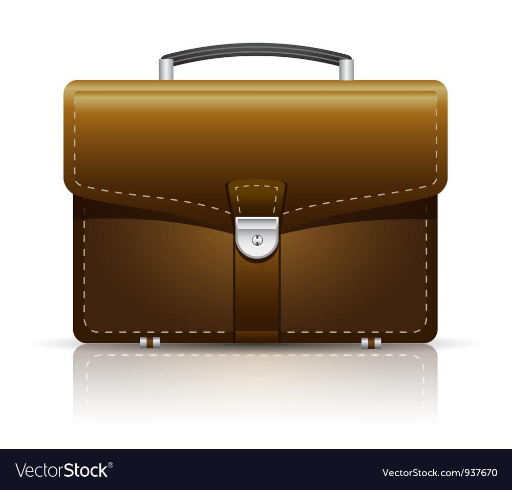 Briefcase brown vector | Price: 3 Credit (USD $3)