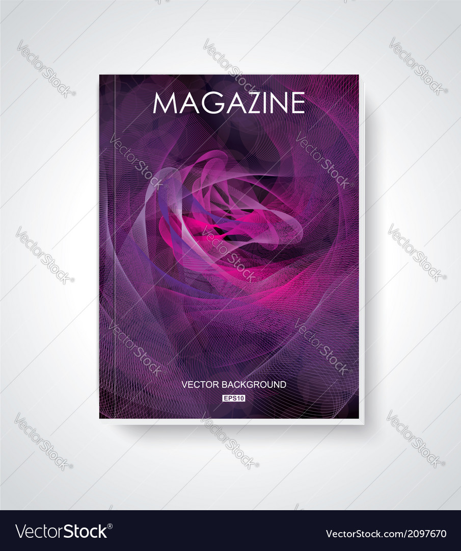 Fashion brochure flyer magazine cover vector | Price: 1 Credit (USD $1)