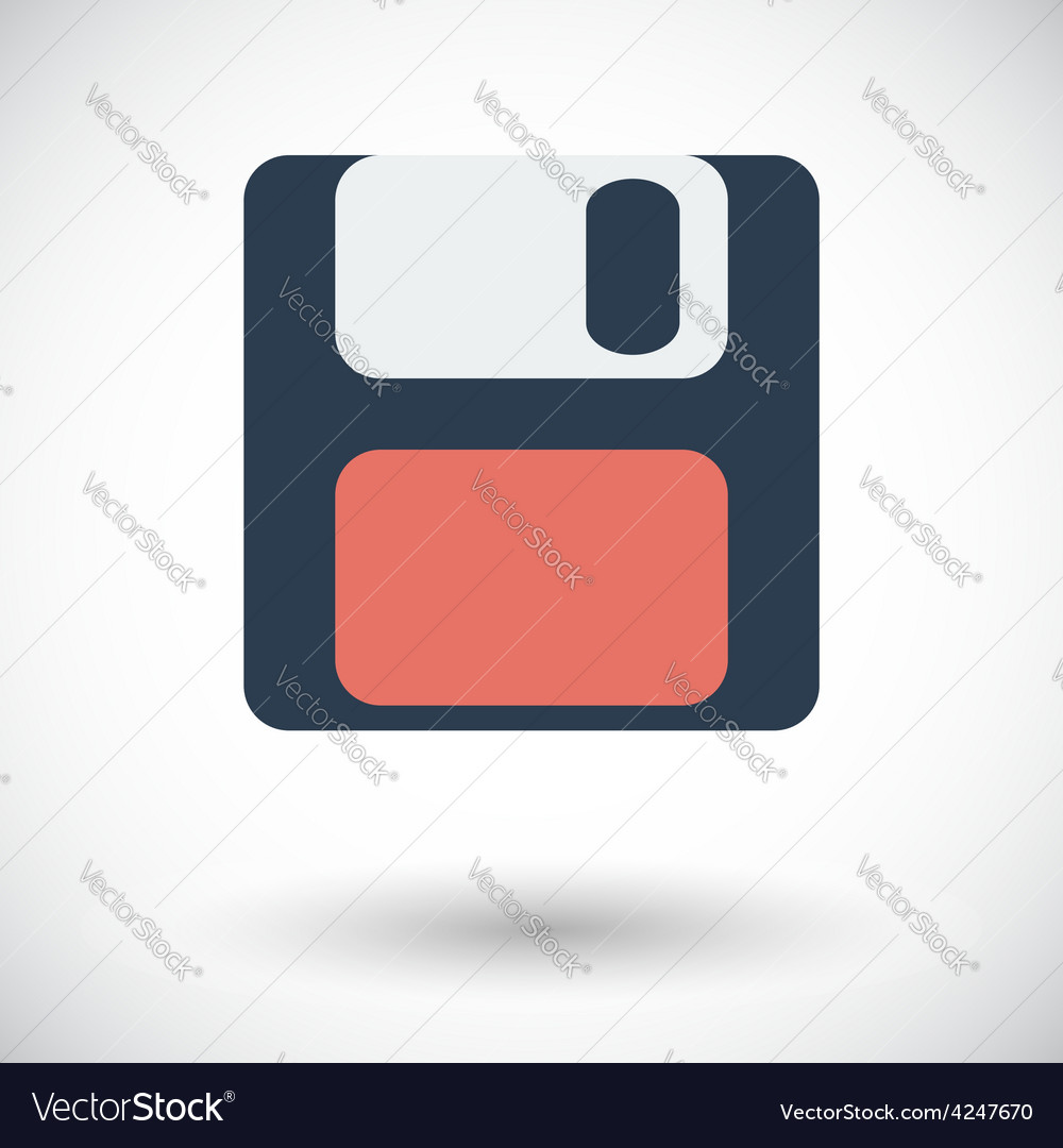 Magnetic floppy disc icon vector | Price: 1 Credit (USD $1)