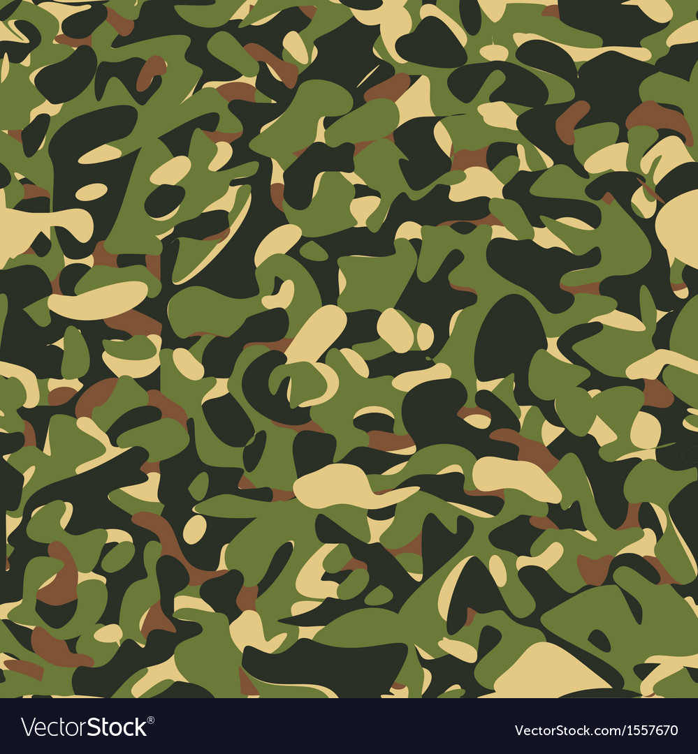 Military camouflage green pattern vector | Price: 1 Credit (USD $1)
