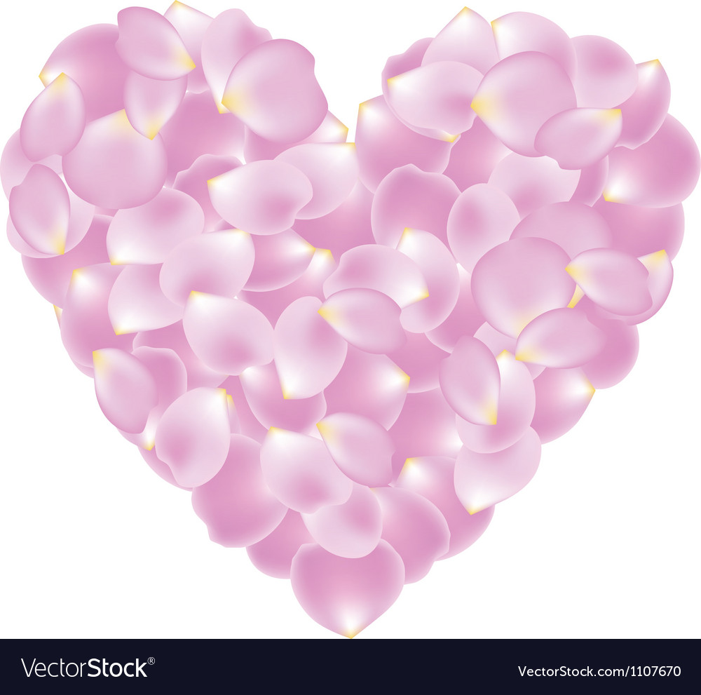Petal shaped heart vector | Price: 1 Credit (USD $1)
