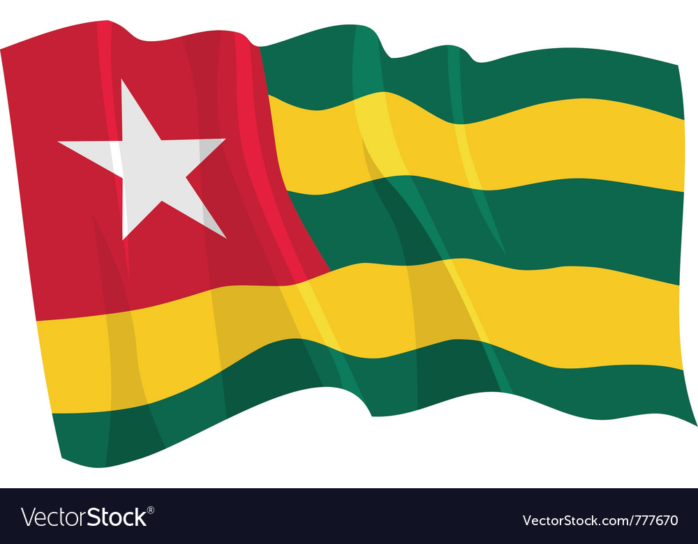 Political waving flag of togo vector | Price: 1 Credit (USD $1)