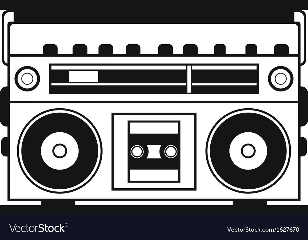 Retro ghetto blaster vector | Price: 1 Credit (USD $1)