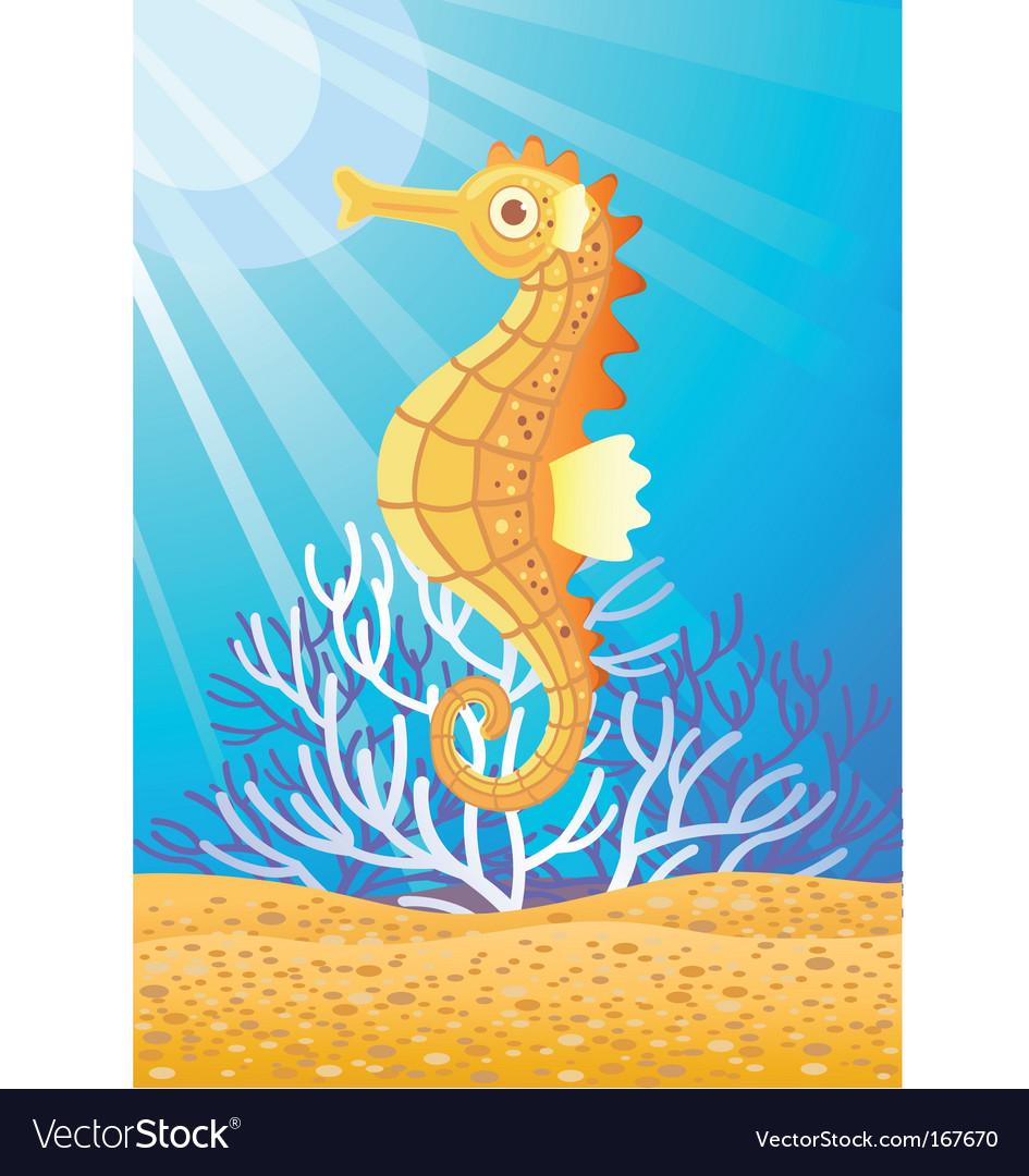 Seahorse vector | Price: 1 Credit (USD $1)