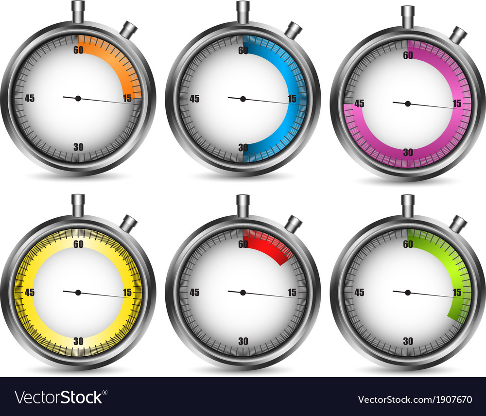 Stopwatches vector