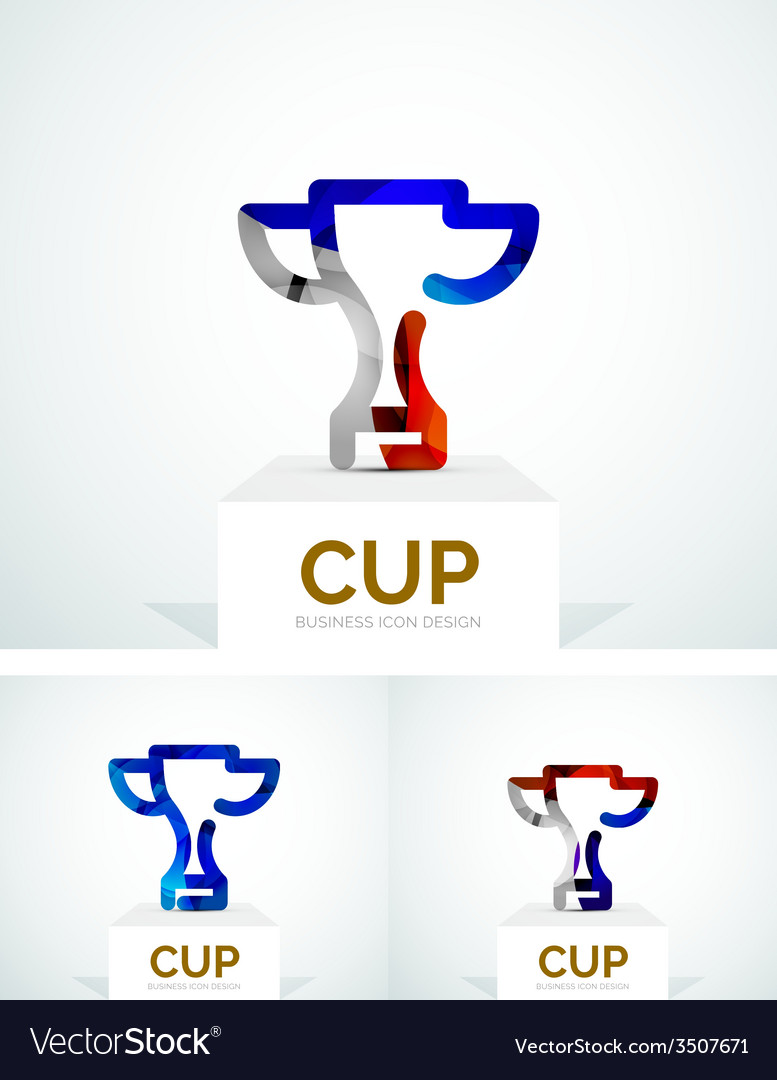 Abstract colorful logo design cup vector | Price: 1 Credit (USD $1)