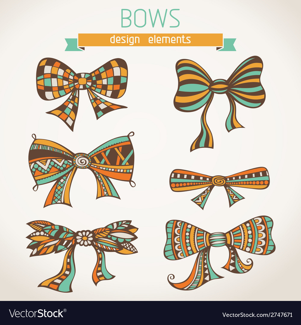 Bows on paper background vector | Price: 1 Credit (USD $1)
