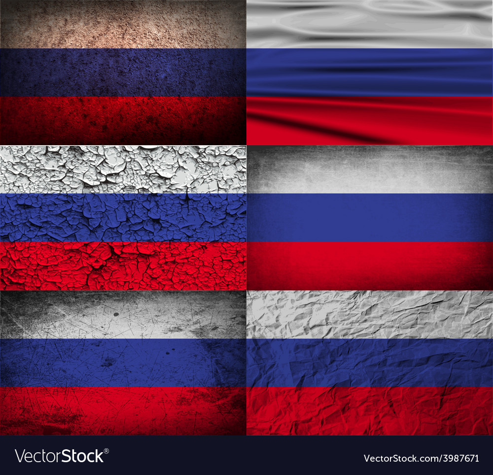 Flag of russia with old texture vector | Price: 1 Credit (USD $1)