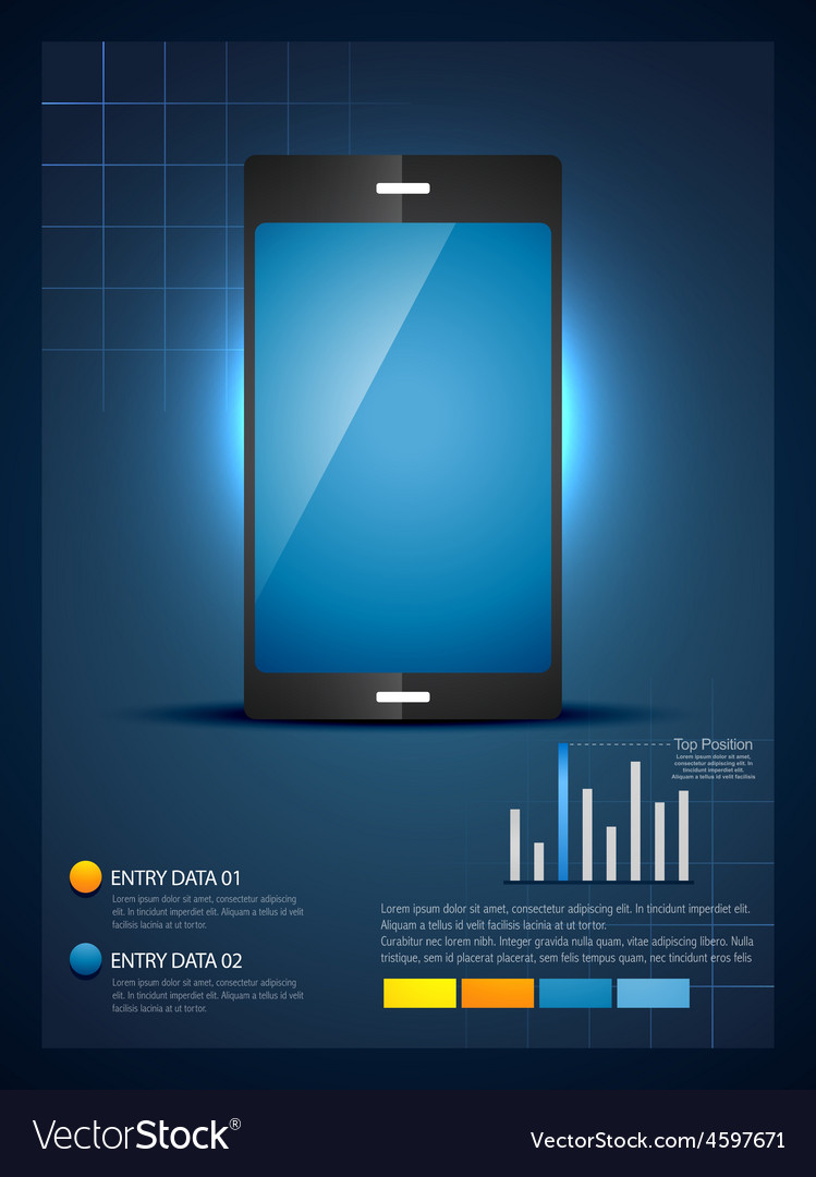 Mobile phone infograhic template vector   Price: 1 Credit (USD $1)