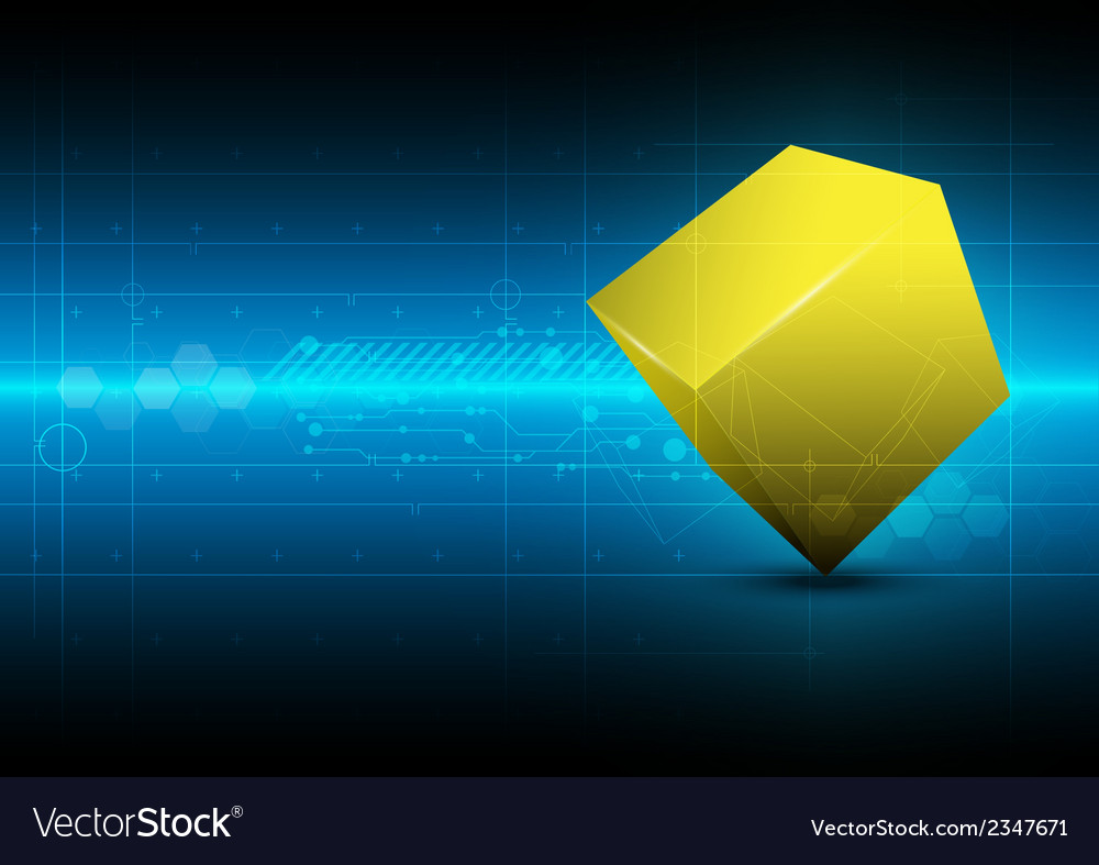 Square metric concept technology vector | Price: 1 Credit (USD $1)