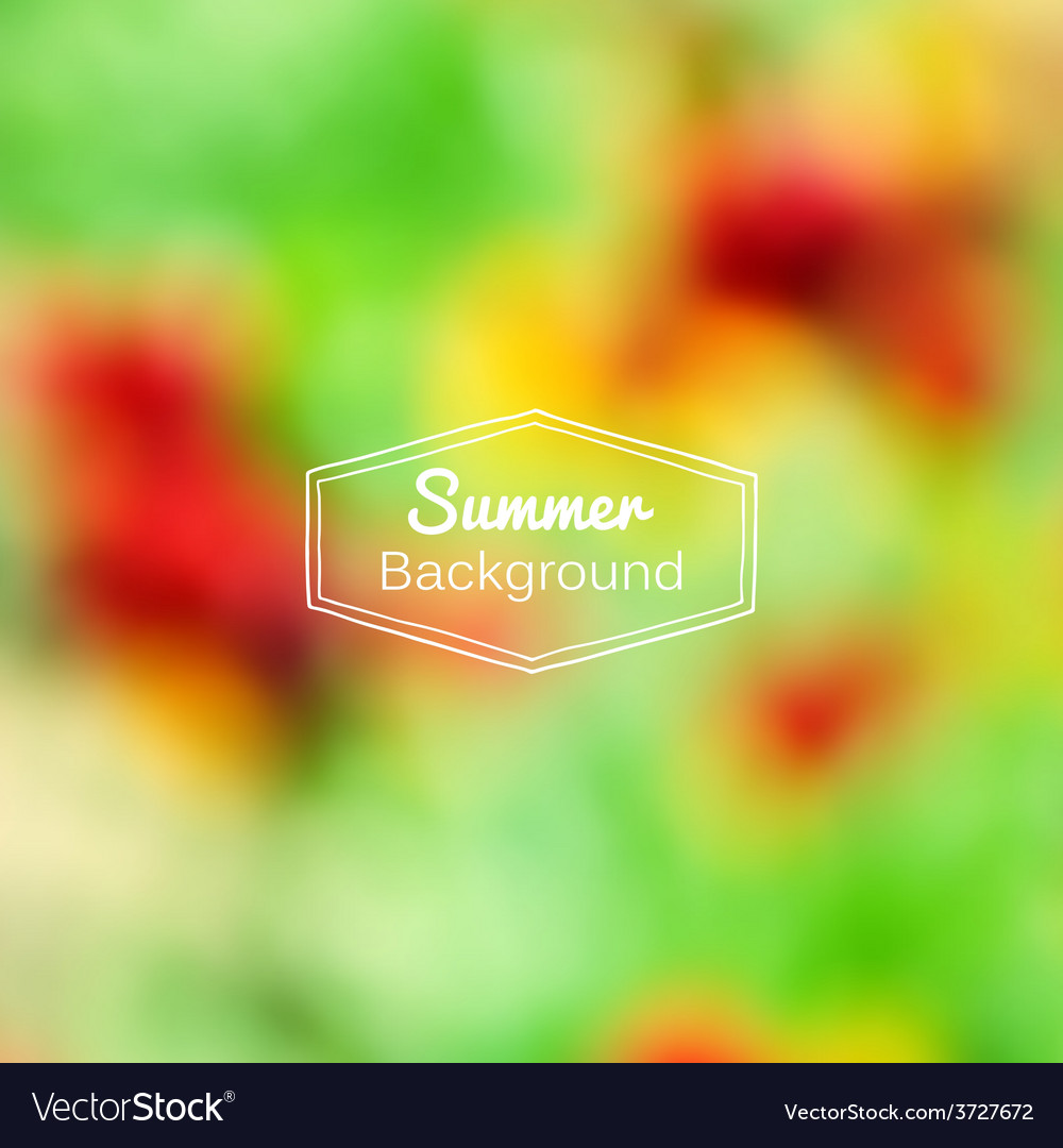 Blurred nature summer green and red vector | Price: 1 Credit (USD $1)