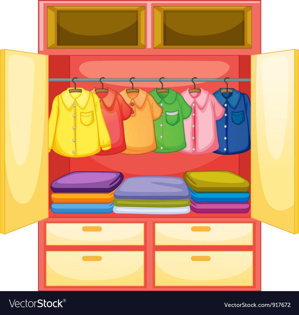 Empty wardrobe vector | Price: 3 Credit (USD $3)