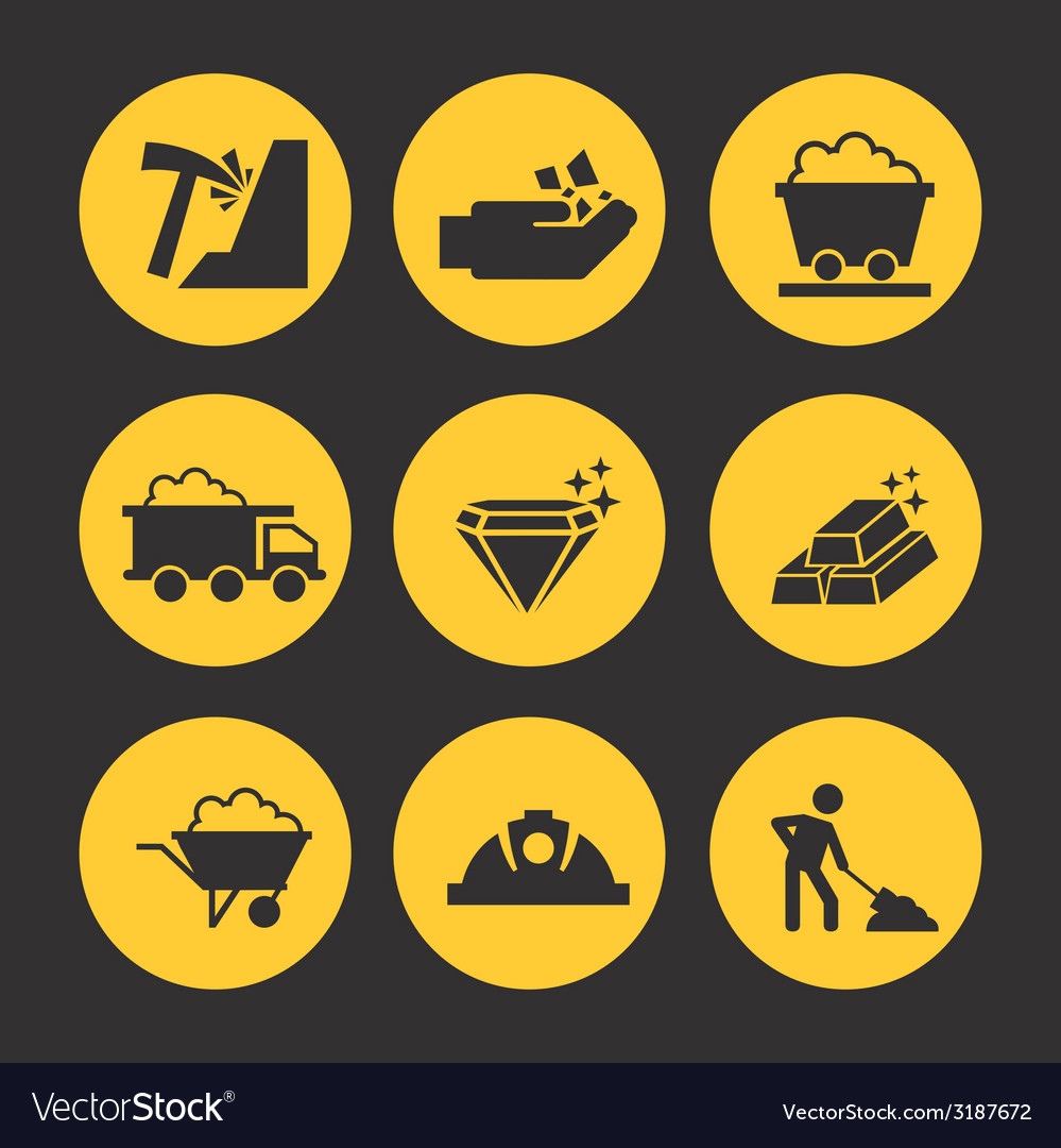 Mine icons design vector