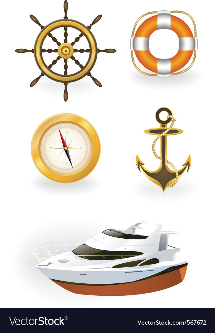 Sea symbols vector | Price: 3 Credit (USD $3)