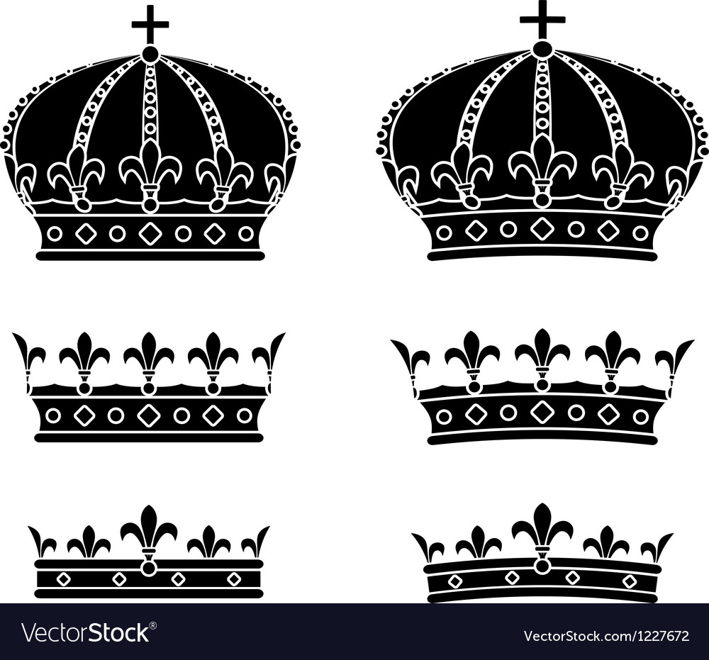 Set of crowns stencils vector | Price: 1 Credit (USD $1)