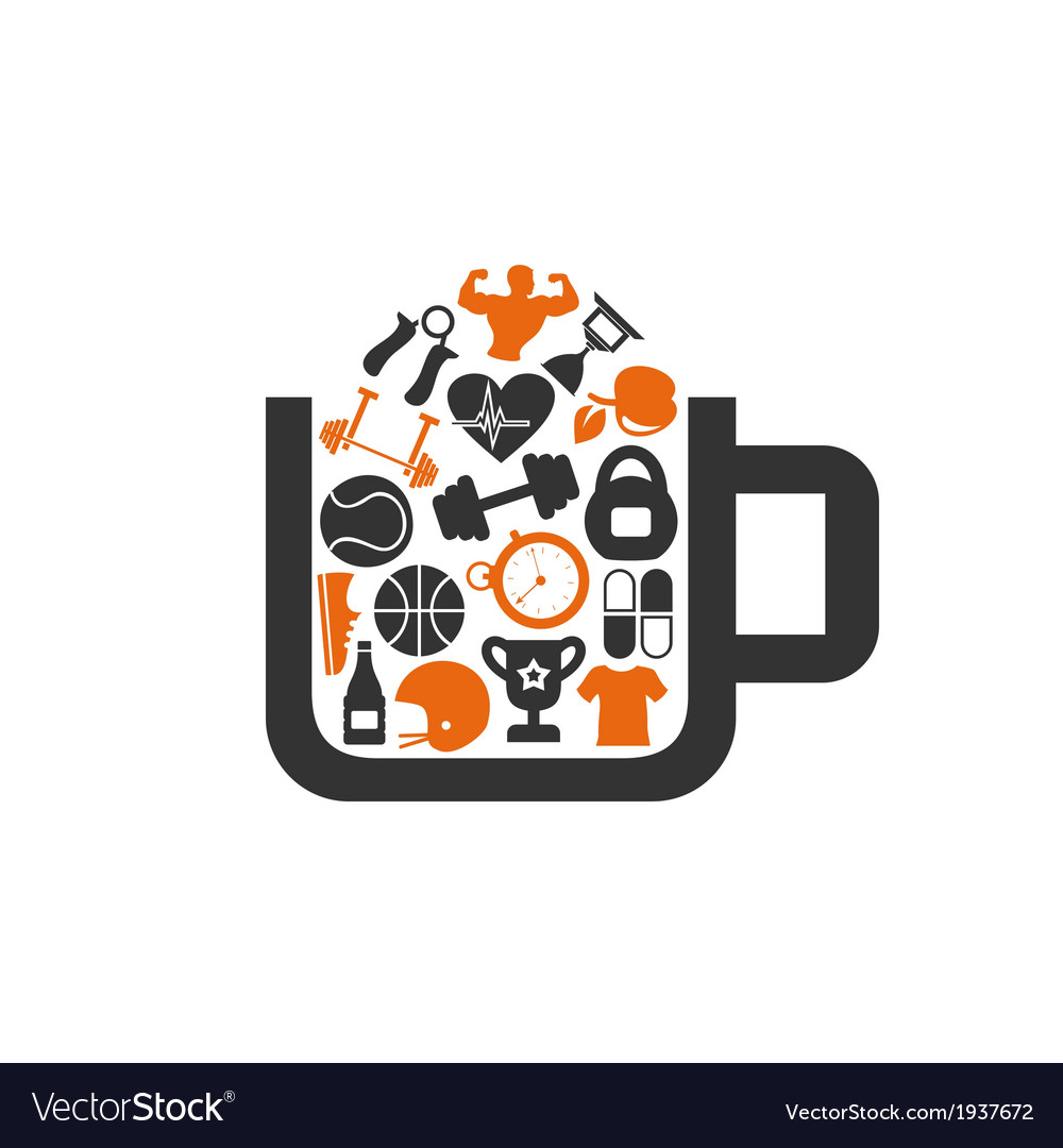 Sports a cup vector | Price: 1 Credit (USD $1)