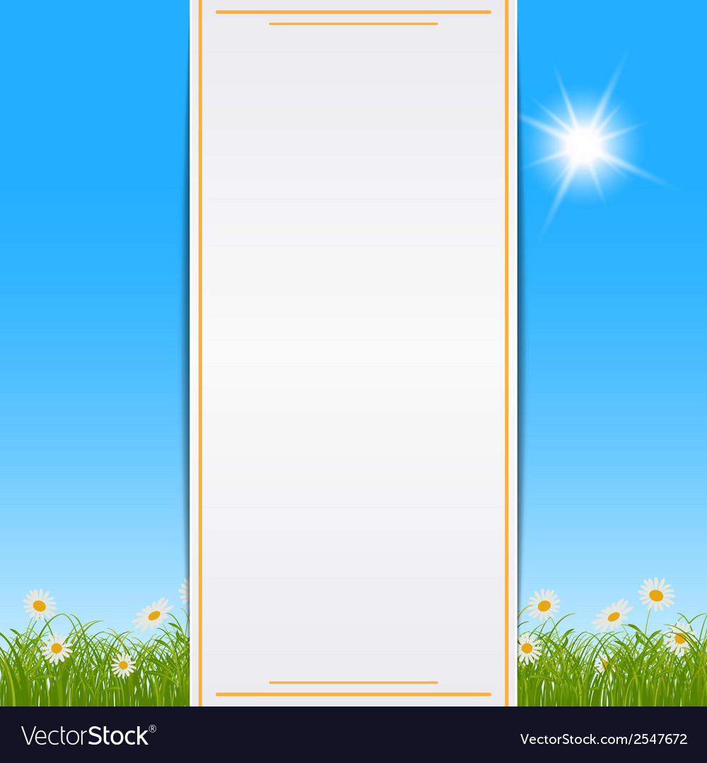 Summer background with blank paper card vector   Price: 1 Credit (USD $1)