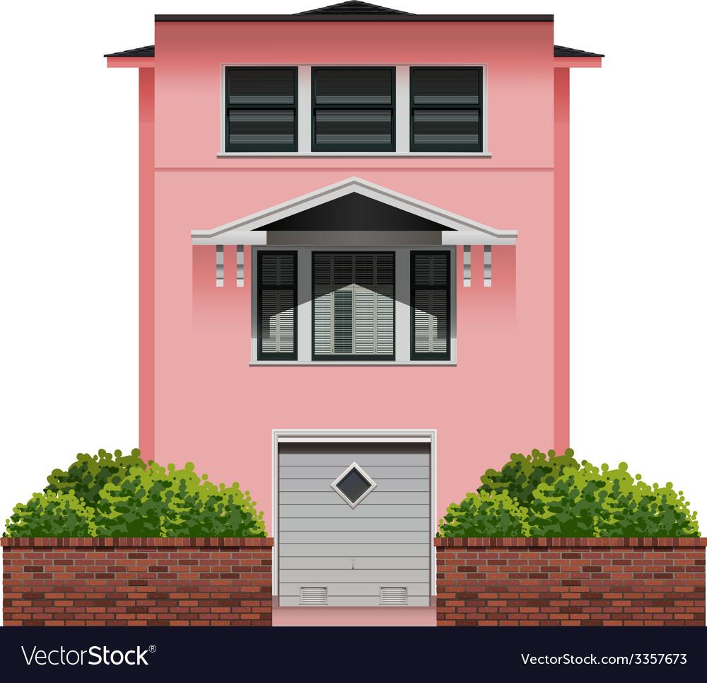 A big pink building vector | Price: 1 Credit (USD $1)