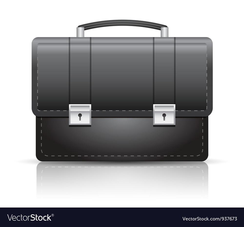 Briefcase black vector | Price: 3 Credit (USD $3)