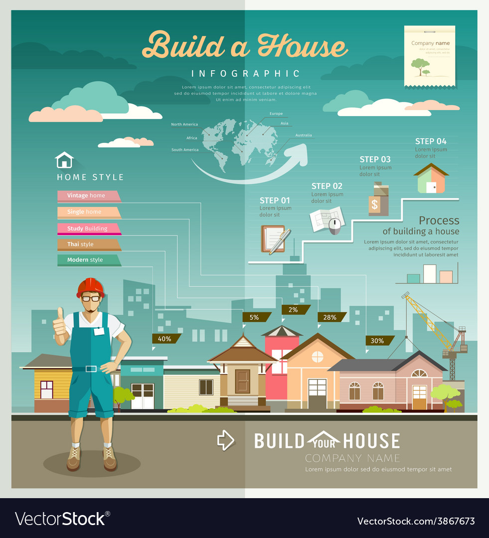 Building constructions your house engineering vector | Price: 3 Credit (USD $3)