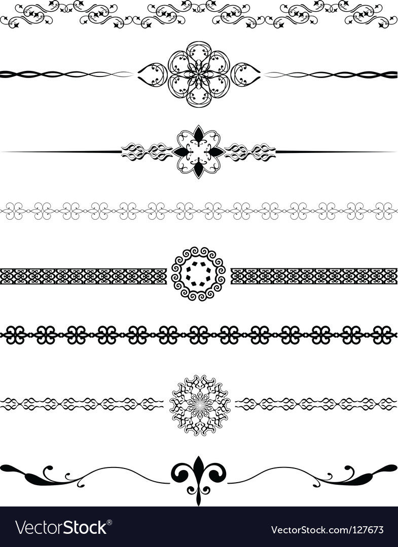 Decorative dividers vector | Price: 1 Credit (USD $1)