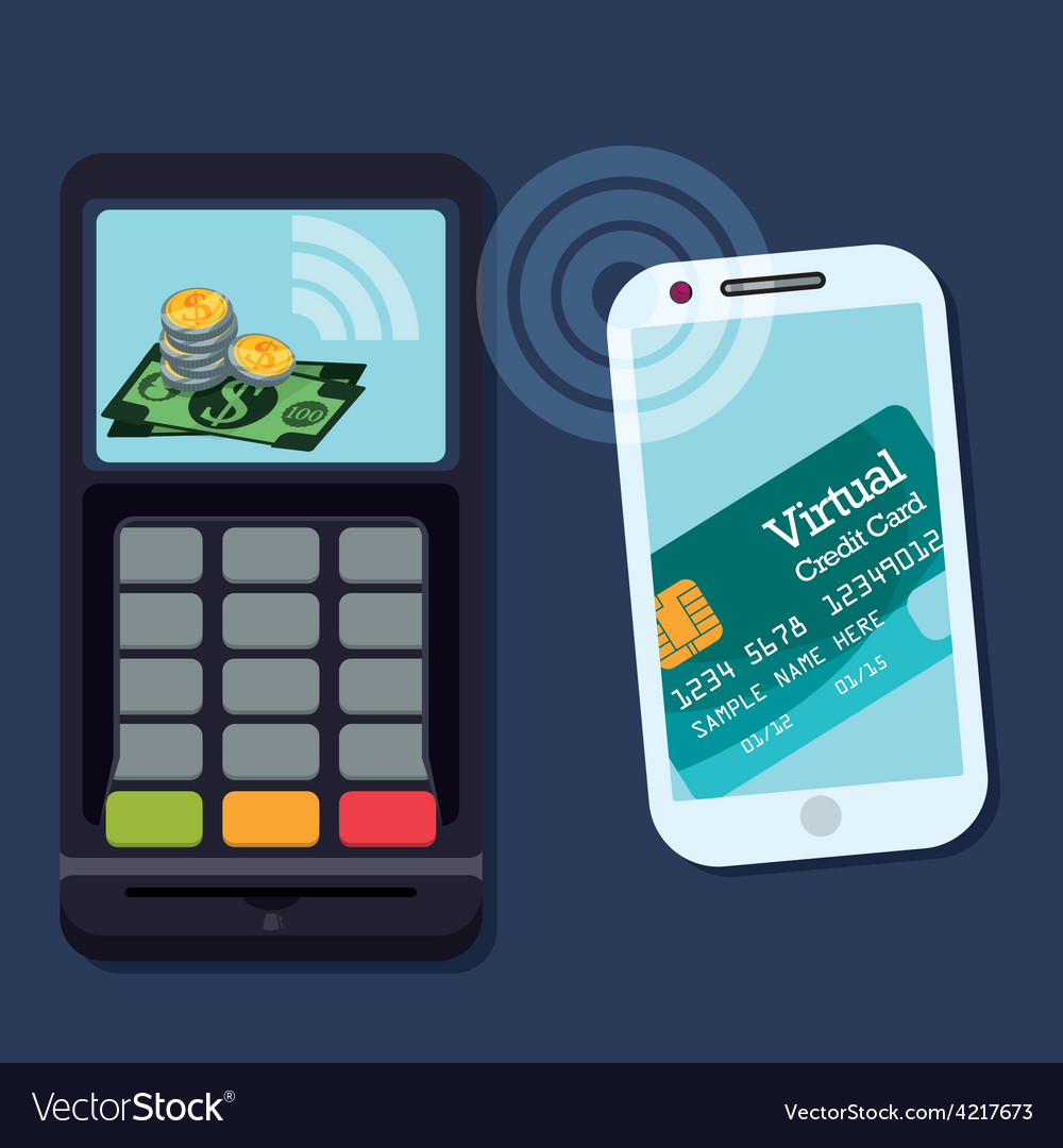 Digital payment design vector | Price: 1 Credit (USD $1)