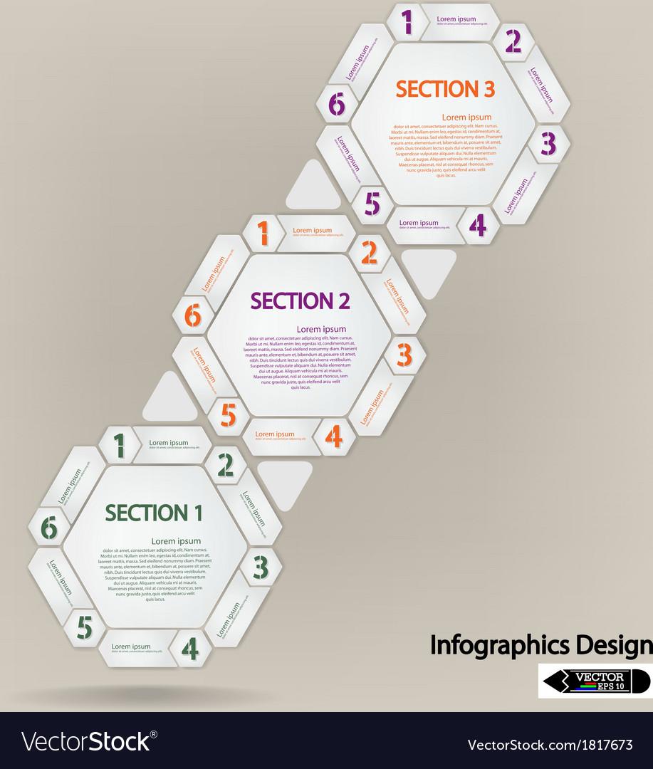 Hexagon presentation template vector | Price: 1 Credit (USD $1)