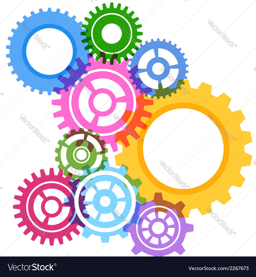 Modeling bright gear wheels background vector | Price: 1 Credit (USD $1)