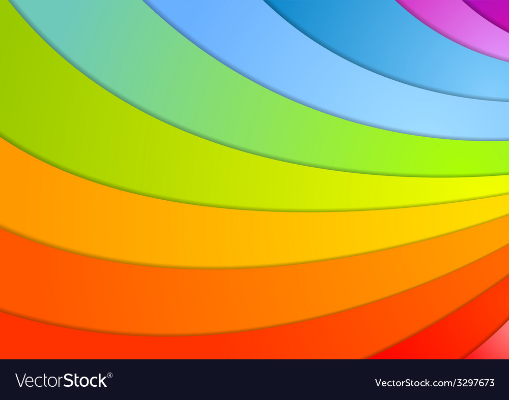 Rainbow waves background vector | Price: 1 Credit (USD $1)