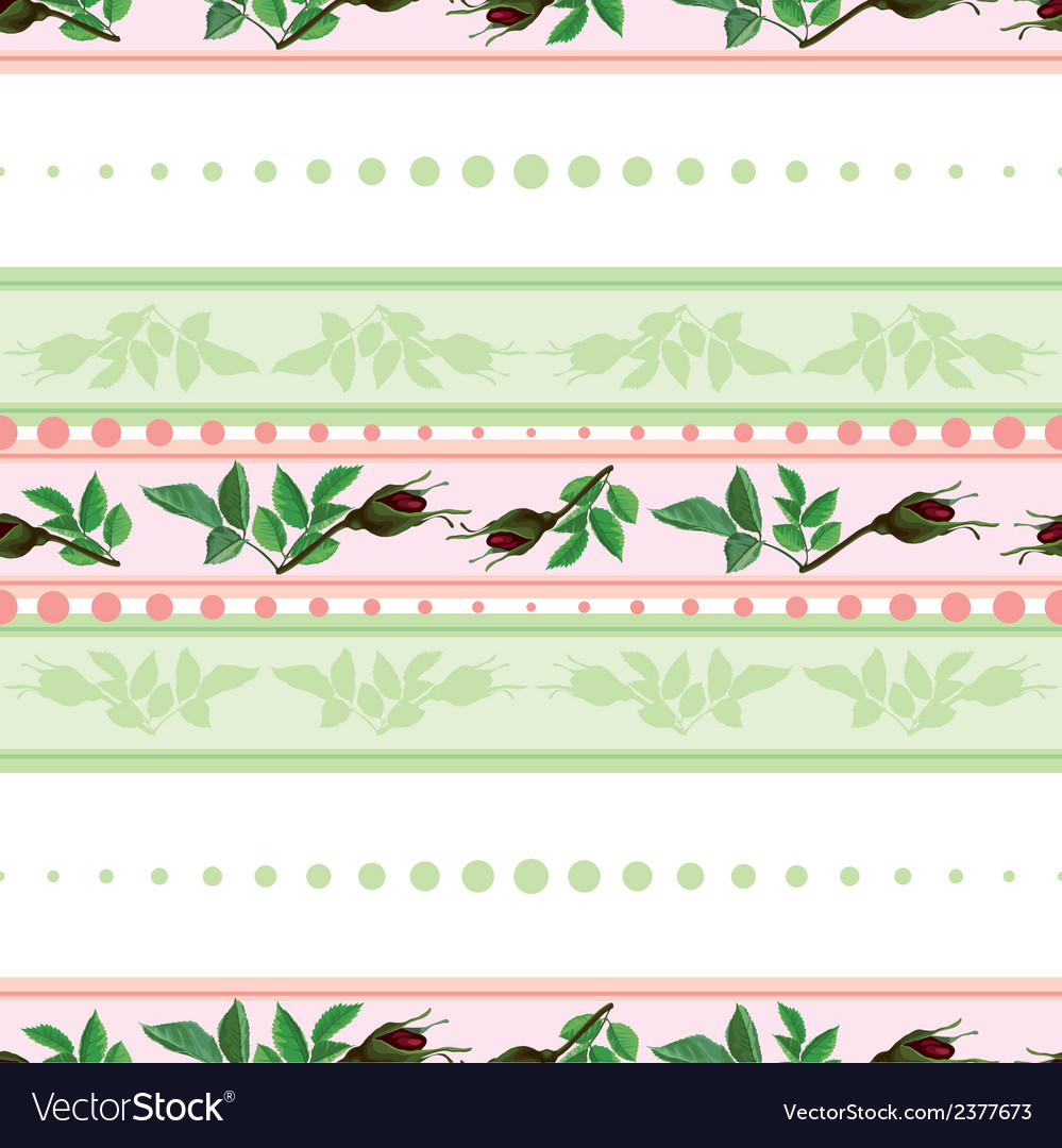Seamless pattern of roses and of stripes vector | Price: 1 Credit (USD $1)