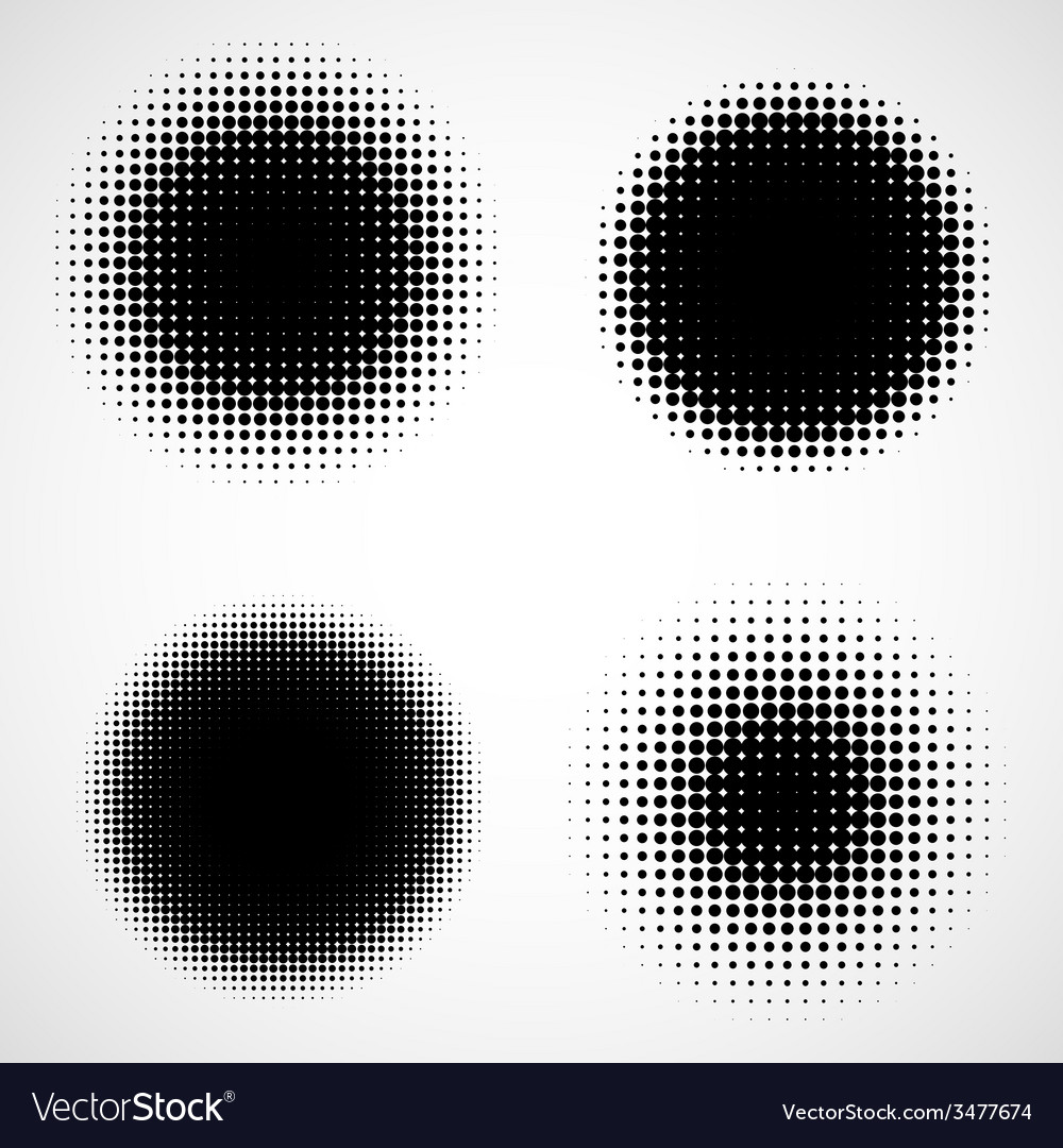 Abstract halftone backgrounds set of isolated vector | Price: 1 Credit (USD $1)