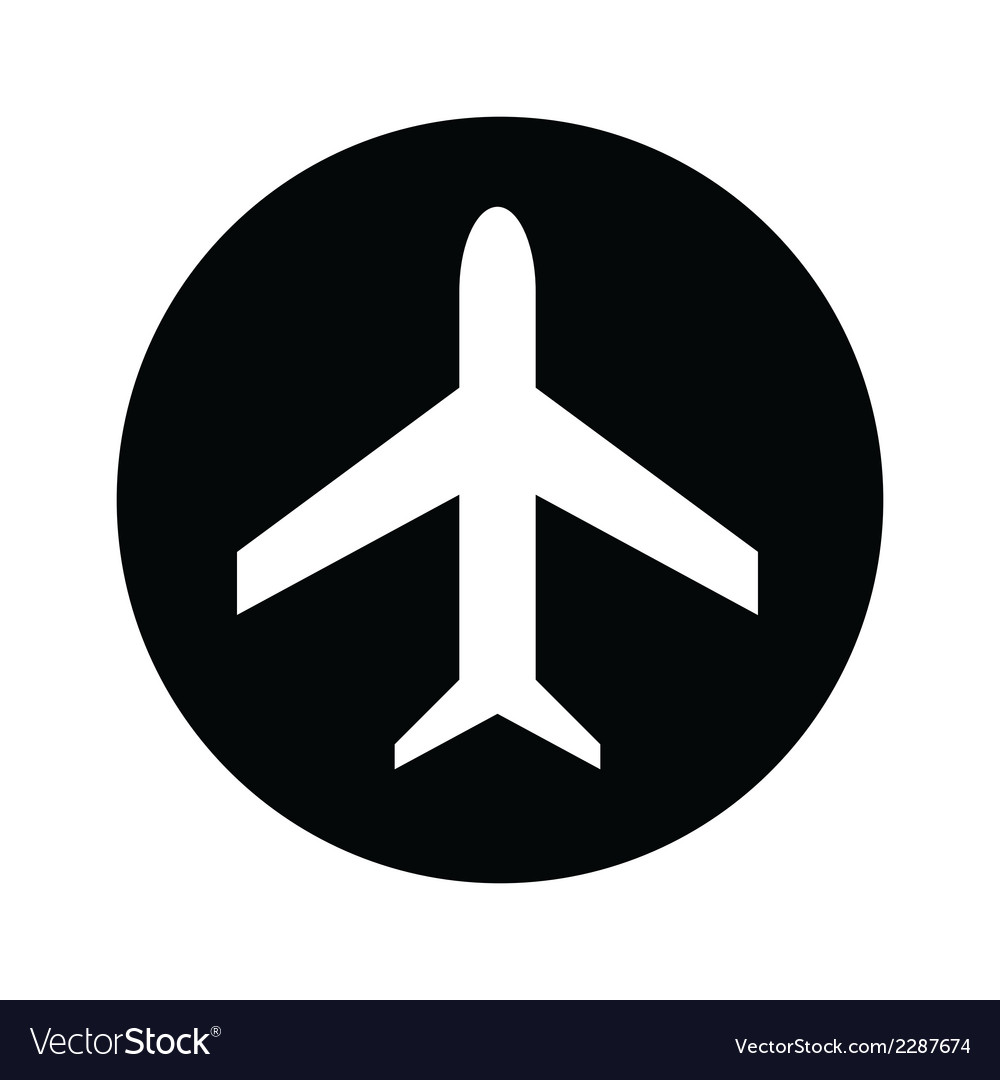 Airplane symbol icon vector | Price: 1 Credit (USD $1)