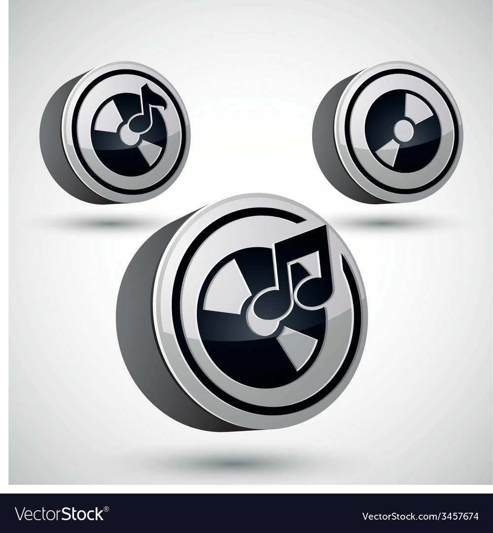 Audio cd icon isolated 3d music theme design vector | Price: 1 Credit (USD $1)