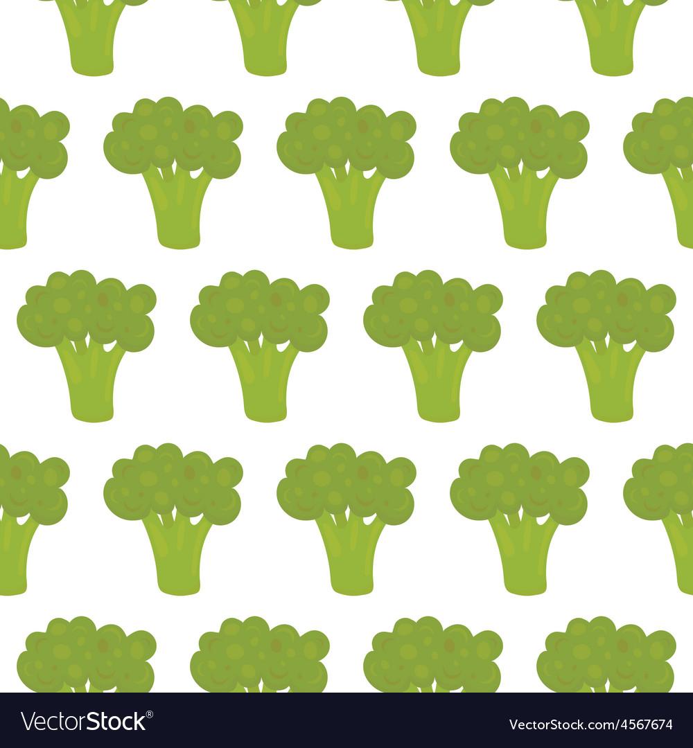 Broccoli seamless pattern vector | Price: 1 Credit (USD $1)