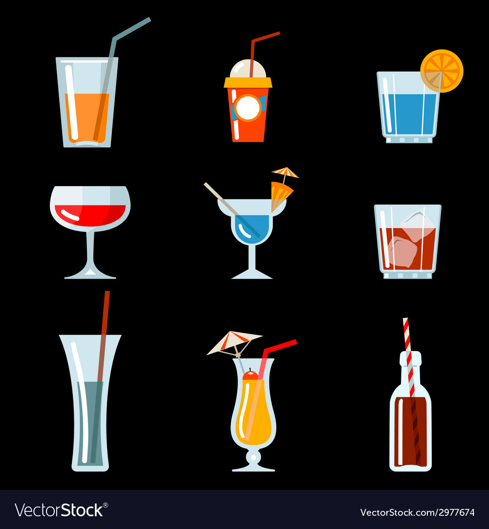Cocktail party icons vector | Price: 1 Credit (USD $1)