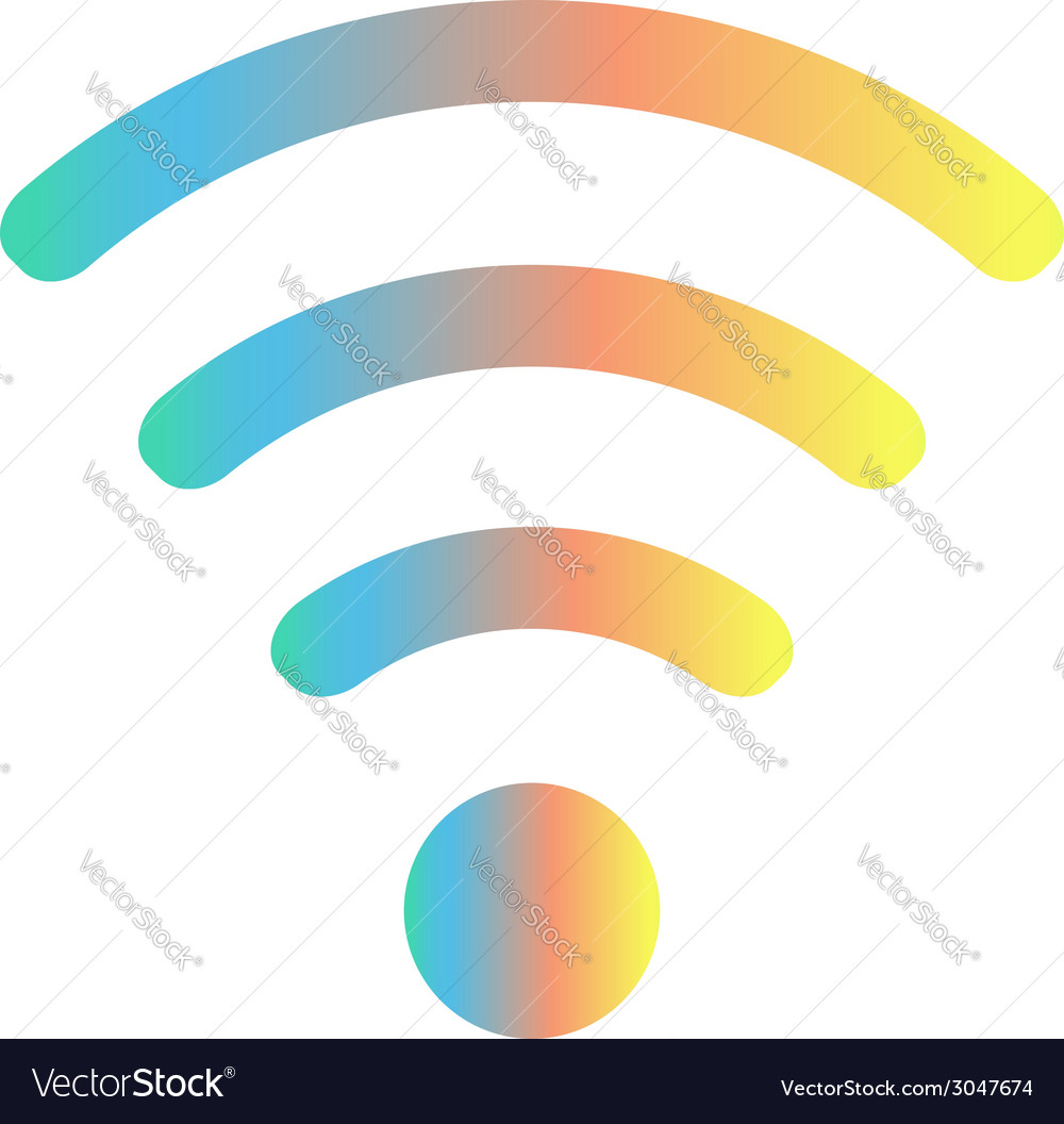 Colored wifi icon vector | Price: 1 Credit (USD $1)