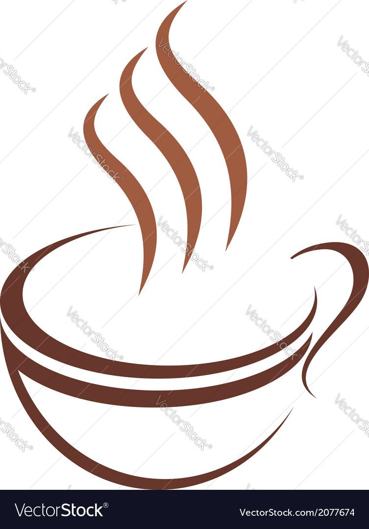 Doodle sketch cup of steaming hot beverage vector | Price: 1 Credit (USD $1)