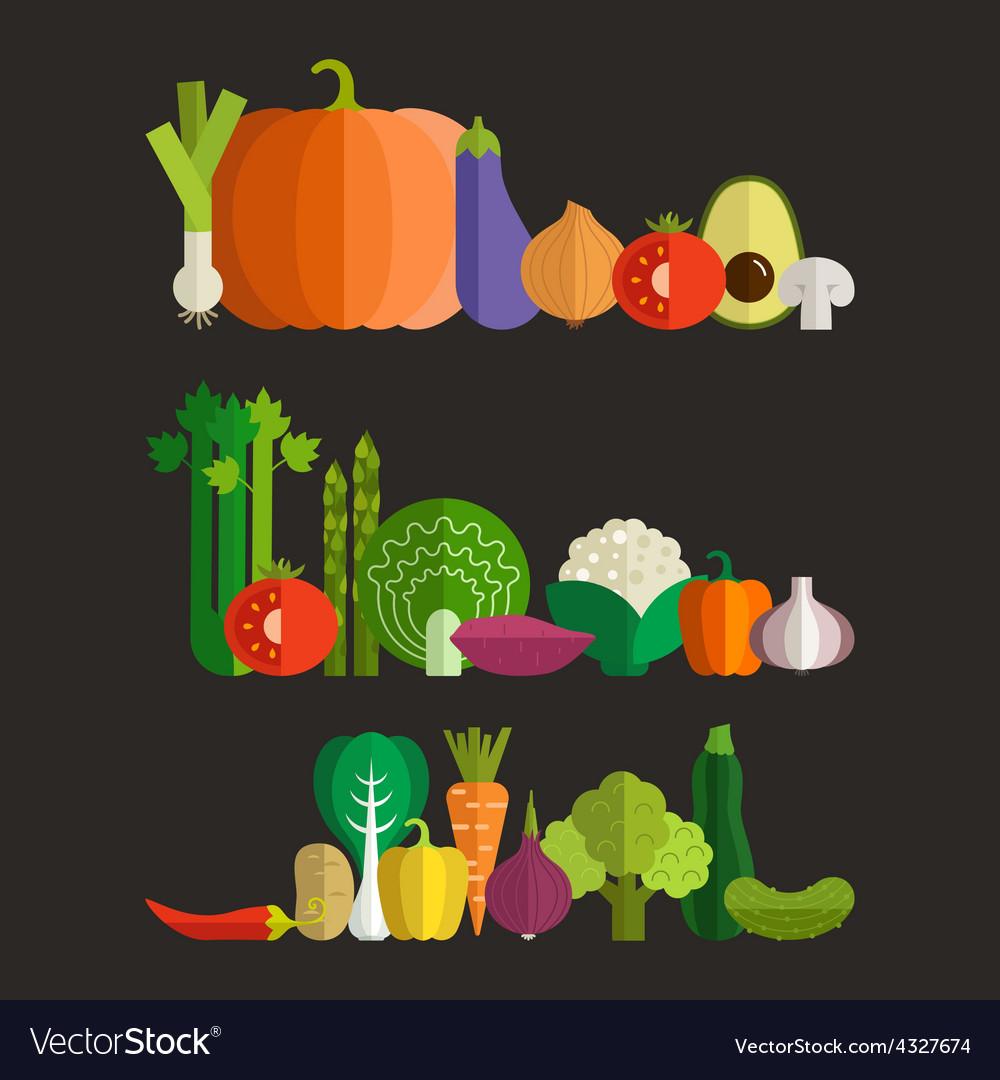 Fresh vegetables vector