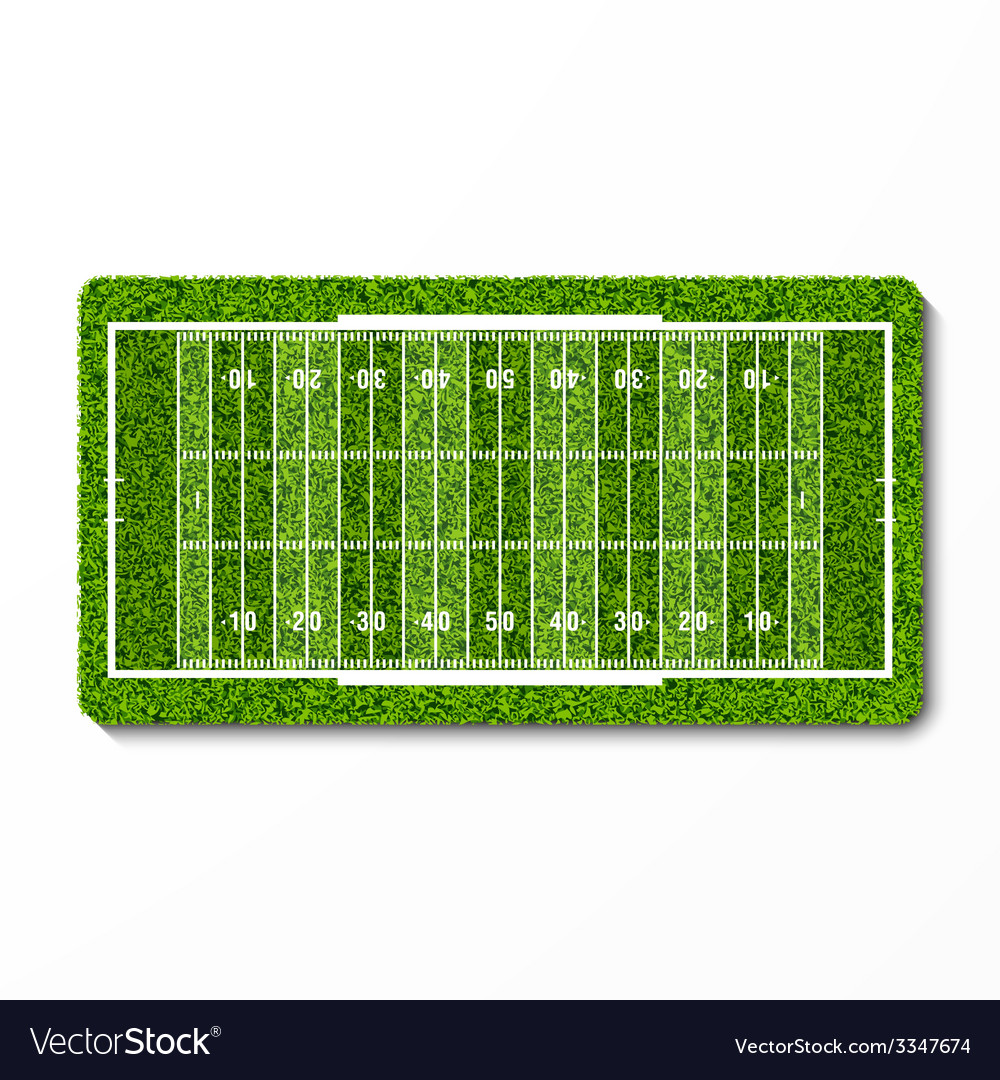 Green grass american football field vector | Price: 1 Credit (USD $1)