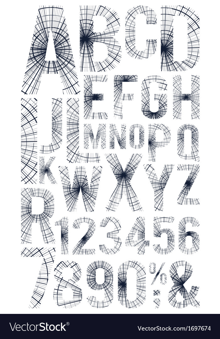 Grunge font vector | Price: 1 Credit (USD $1)