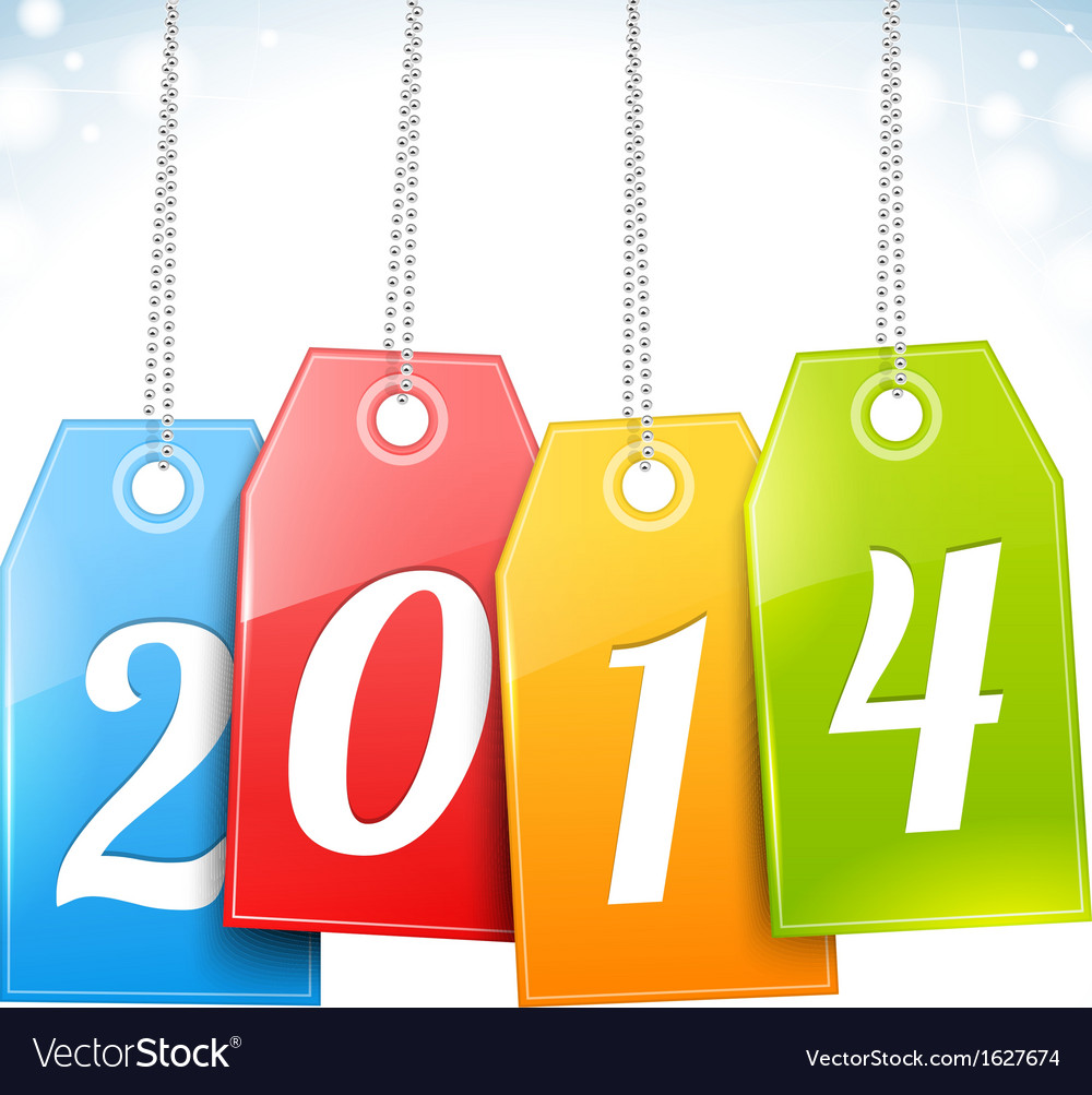 Happy new year greetings card vector | Price: 1 Credit (USD $1)