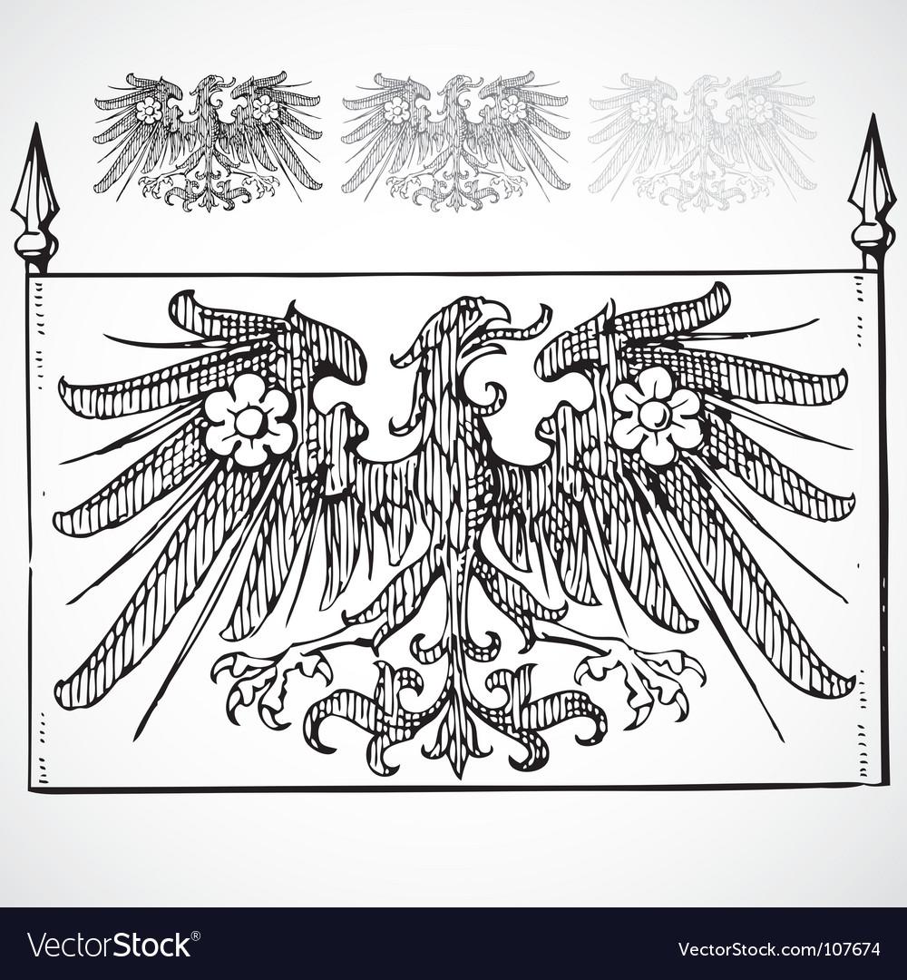 Heraldic eagles vector | Price: 1 Credit (USD $1)