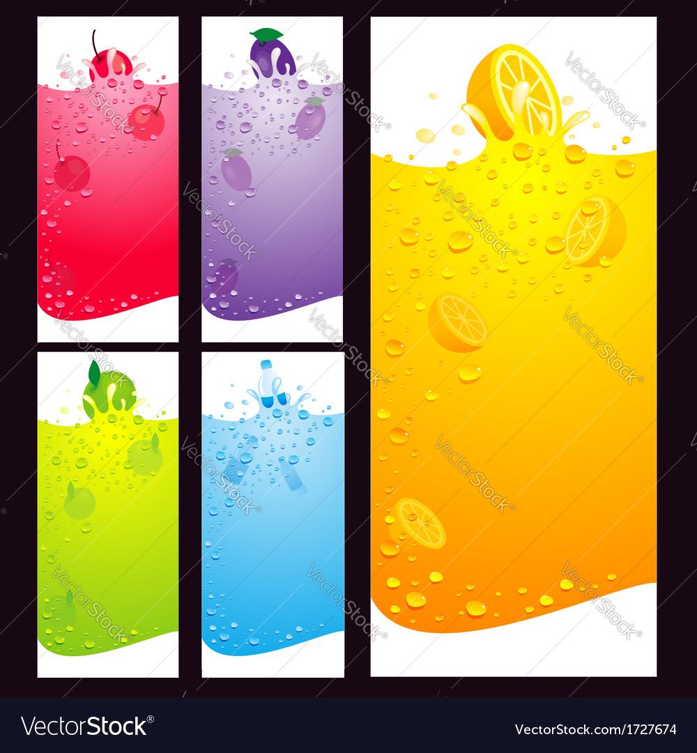 Juice fruit liquid drops splash element background vector | Price: 1 Credit (USD $1)