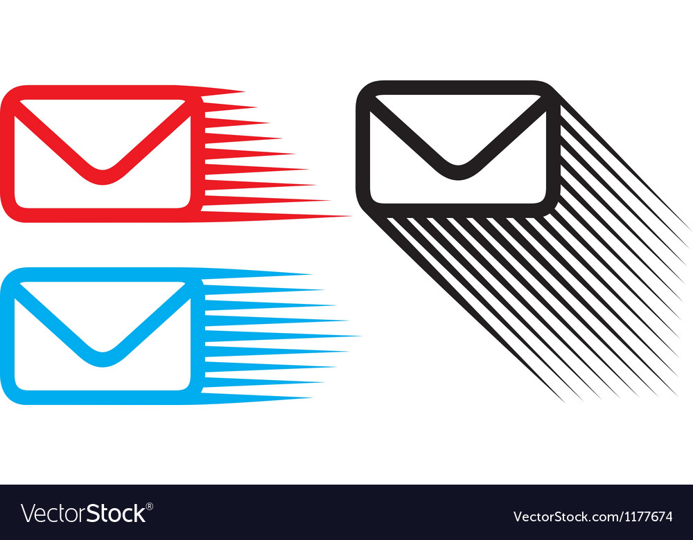 Mail icon set vector | Price: 1 Credit (USD $1)