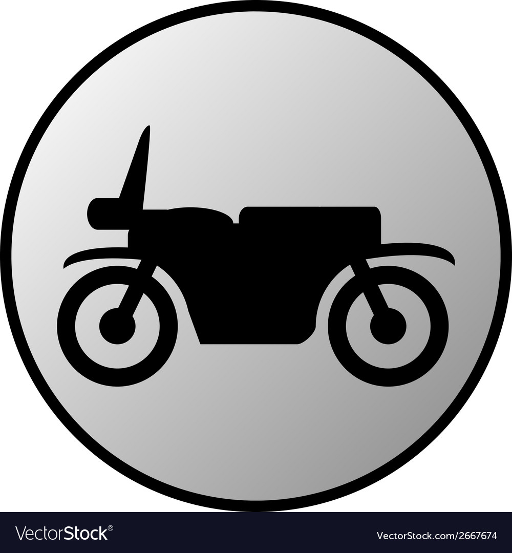 Motorcycle button vector | Price: 1 Credit (USD $1)