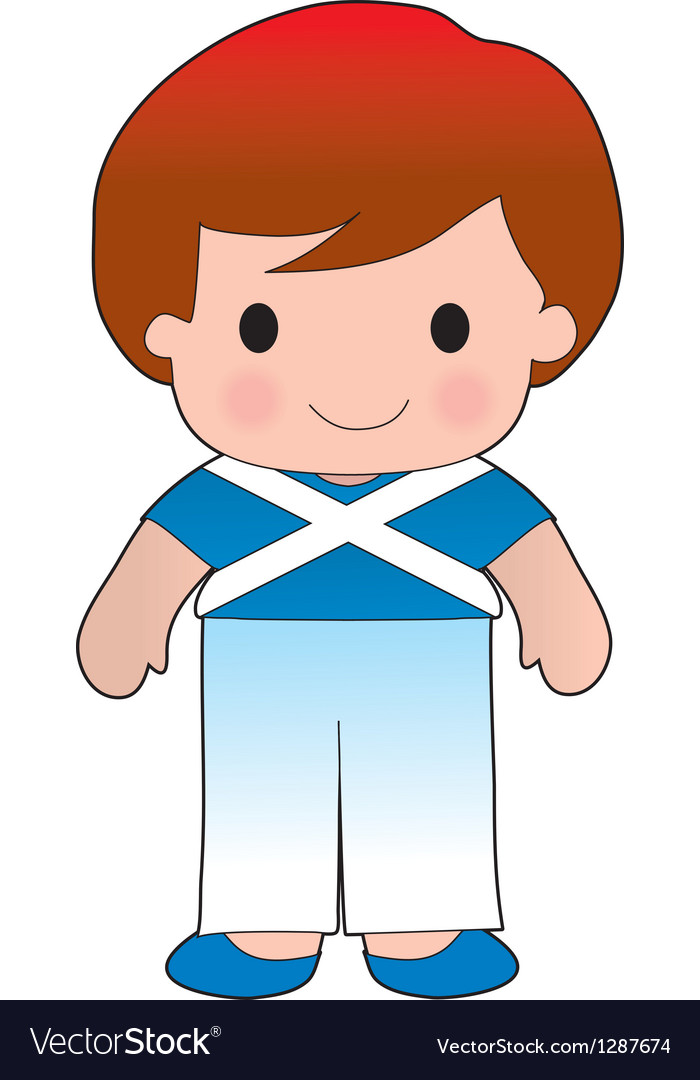 Poppy scotland boy vector | Price: 1 Credit (USD $1)