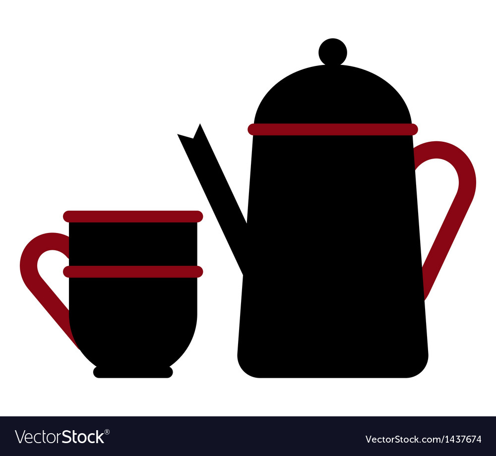 Teapot and teacup vector   Price: 1 Credit (USD $1)